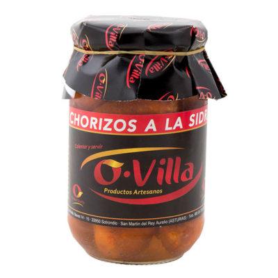 Chorizos a la sidra Ovilla
